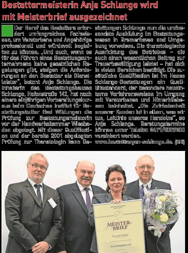Zeitungsartikel 15. Mai 2016