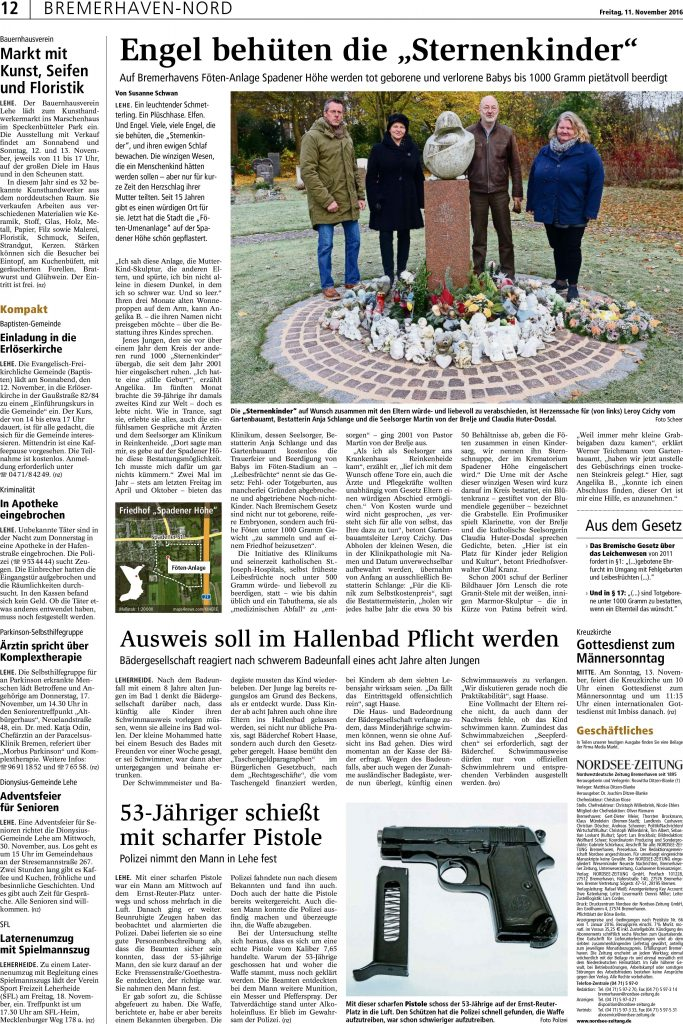 Zeitungsartikel 15. November 2016